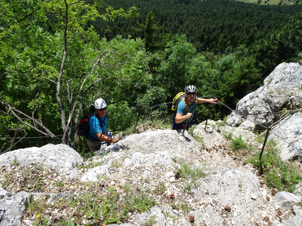Werner and Robert on the Hanslsteig