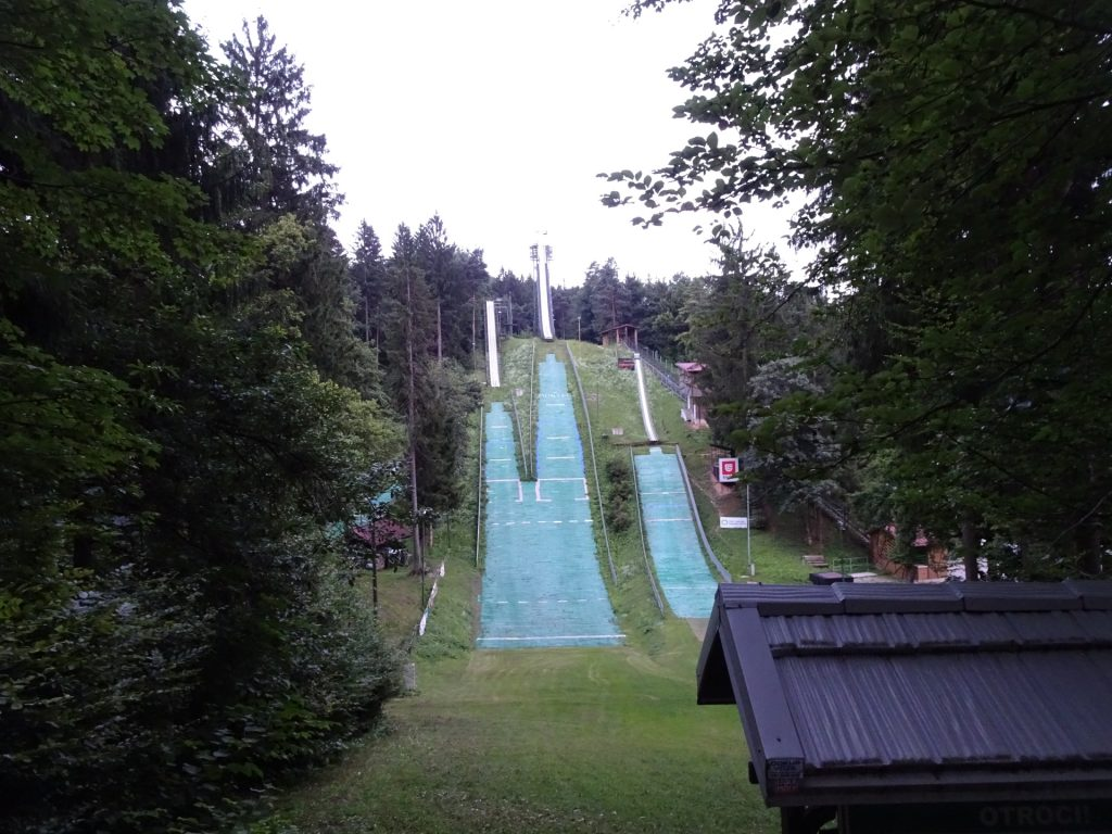 Ski jumping area