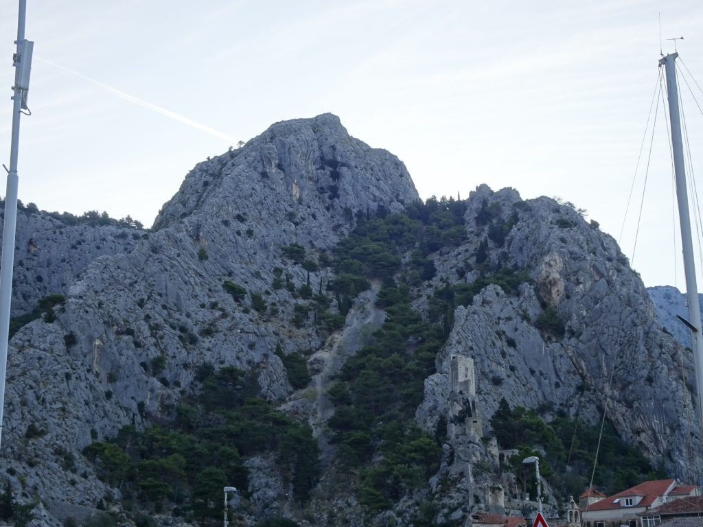 View up to Fortica from starting point