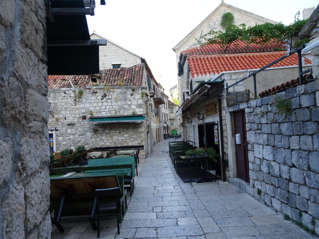 Hike through the narrow streets of Omis