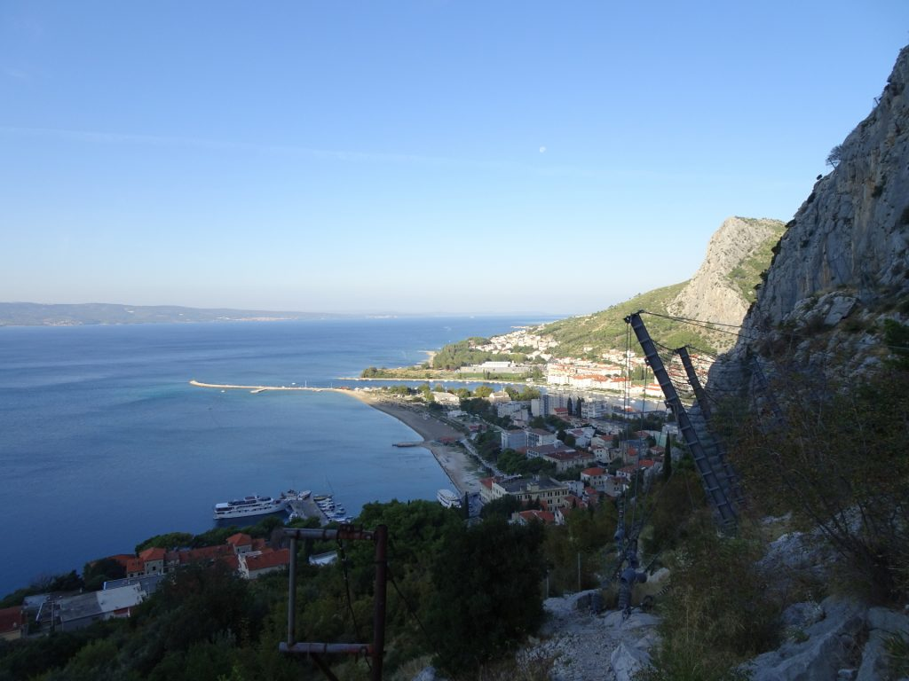 View back to Omis and the Adria
