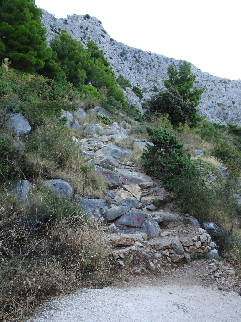 Follow the red markings (trail becomes again steeper)