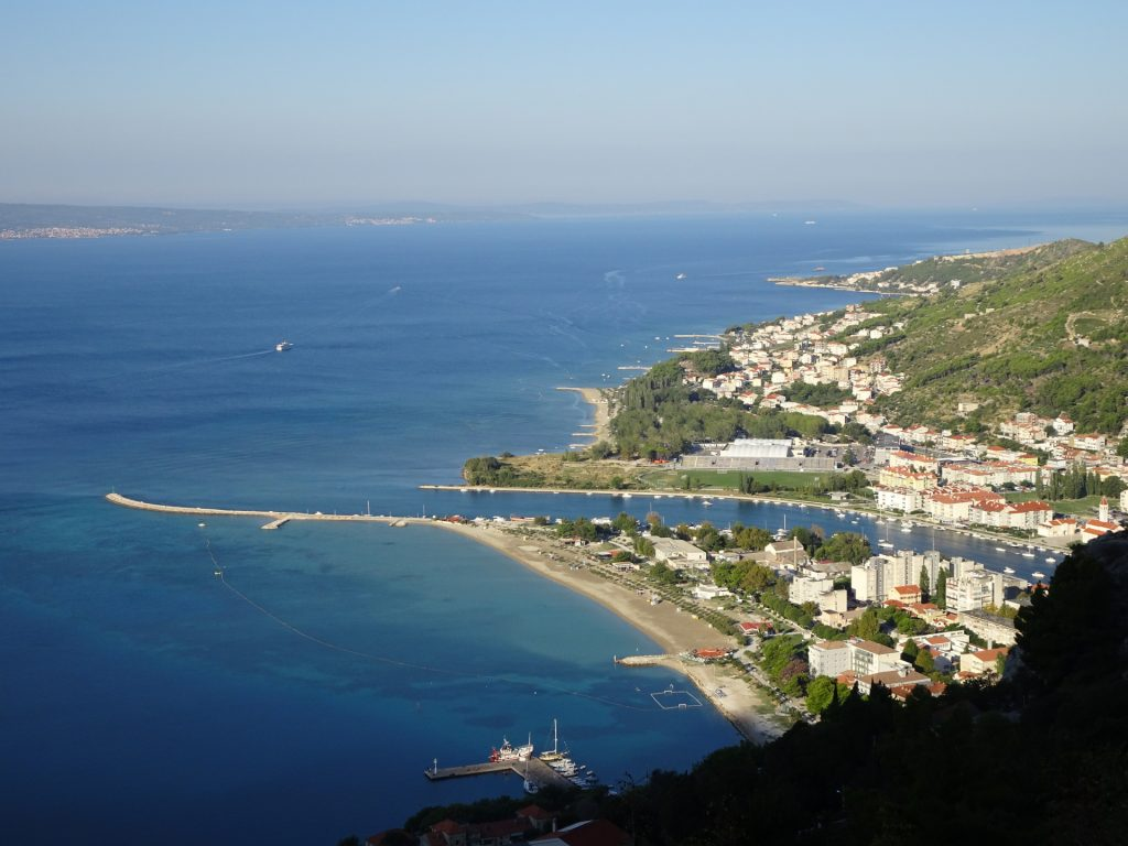 Amazing view downwards to Omis