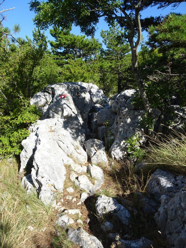 Rocky trail towards Kula