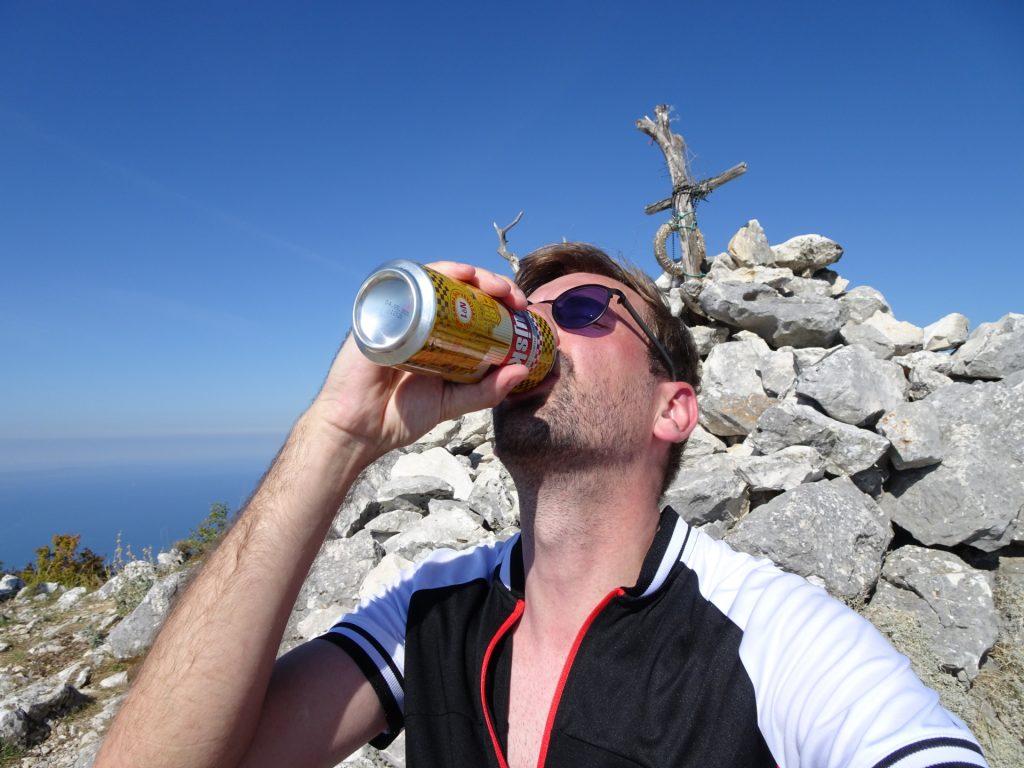 Celebrating at the Kula peak