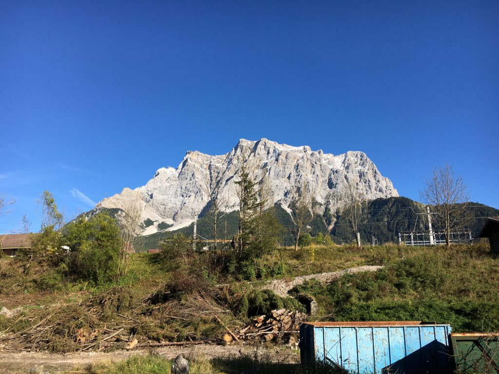 The first glance at Zugspitze