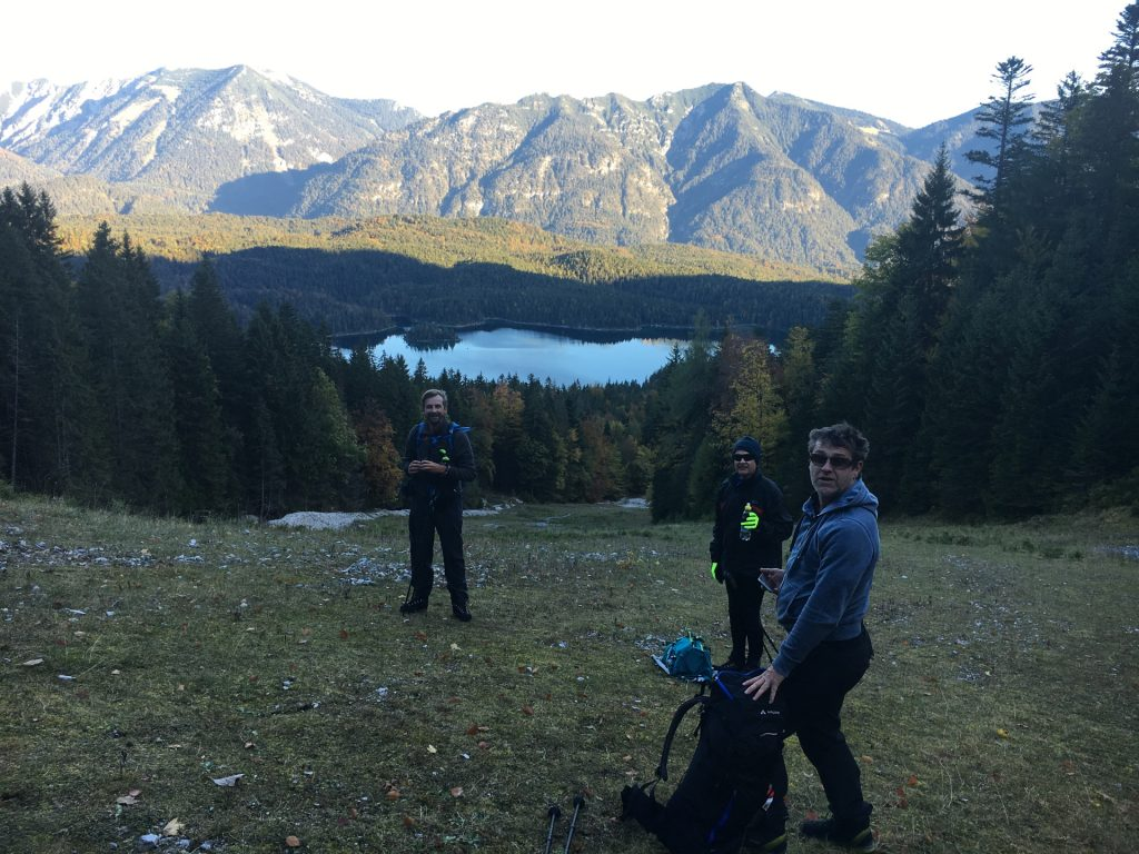 Enjoying the view towards Eibsee