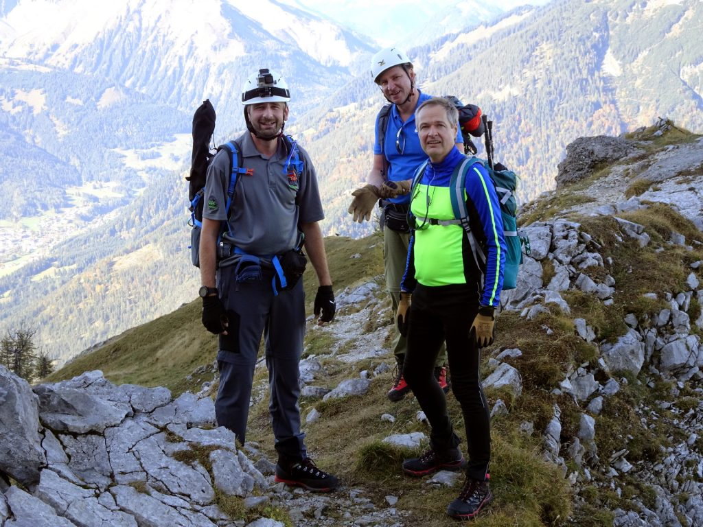 Stefan, Hannes and Herbert on the ridge