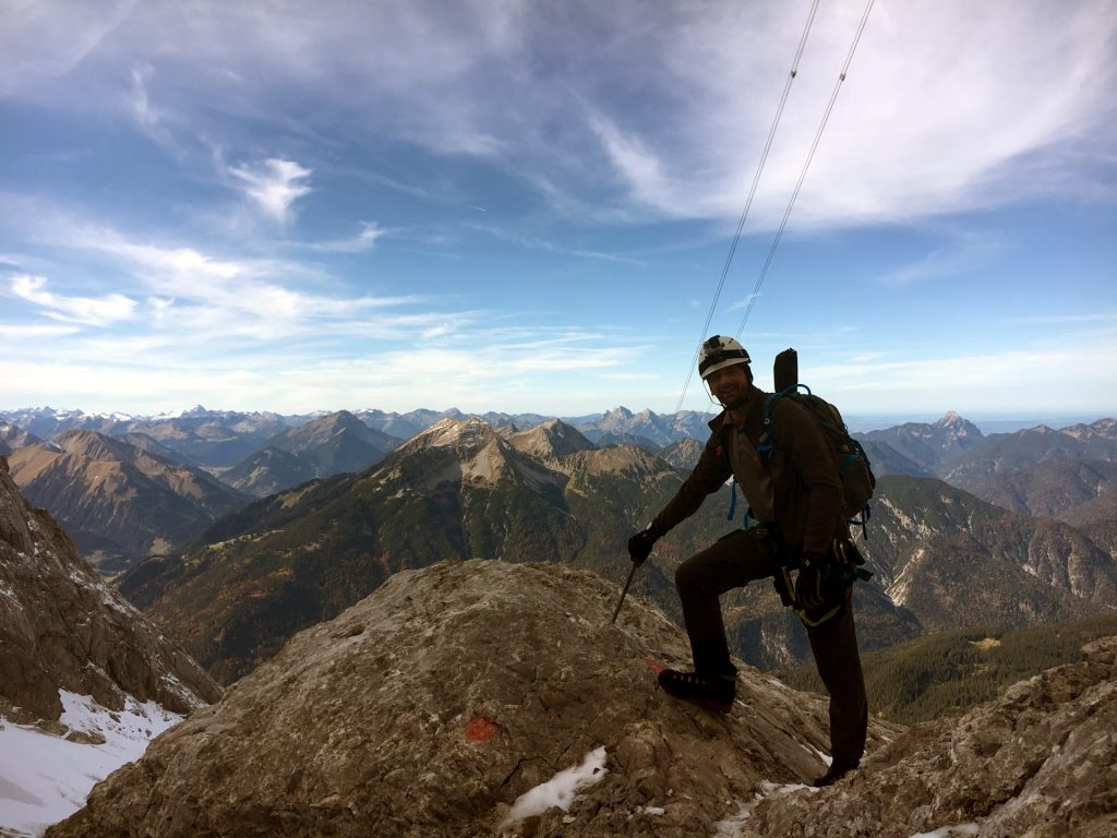 Stefan posing at the via ferrata