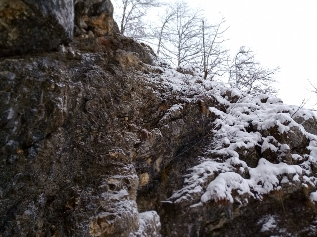 Entrance of Hoyosteig (icy and steep)