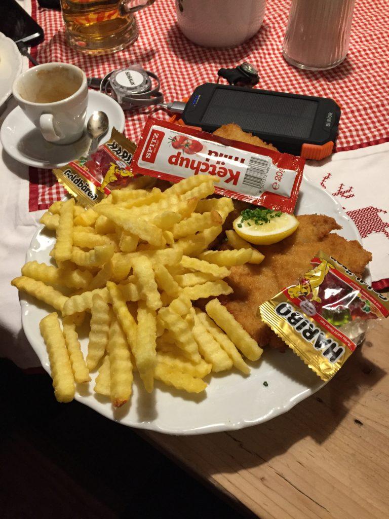 A Wiener Schnitzel - well deserved!
