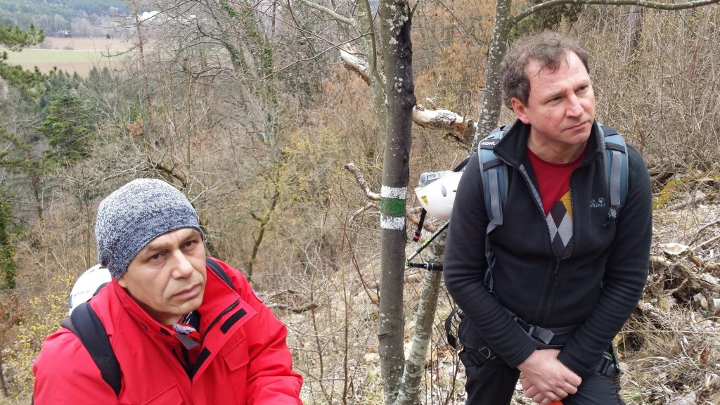 Nader and Hannes are looking at the Ganghofersteig