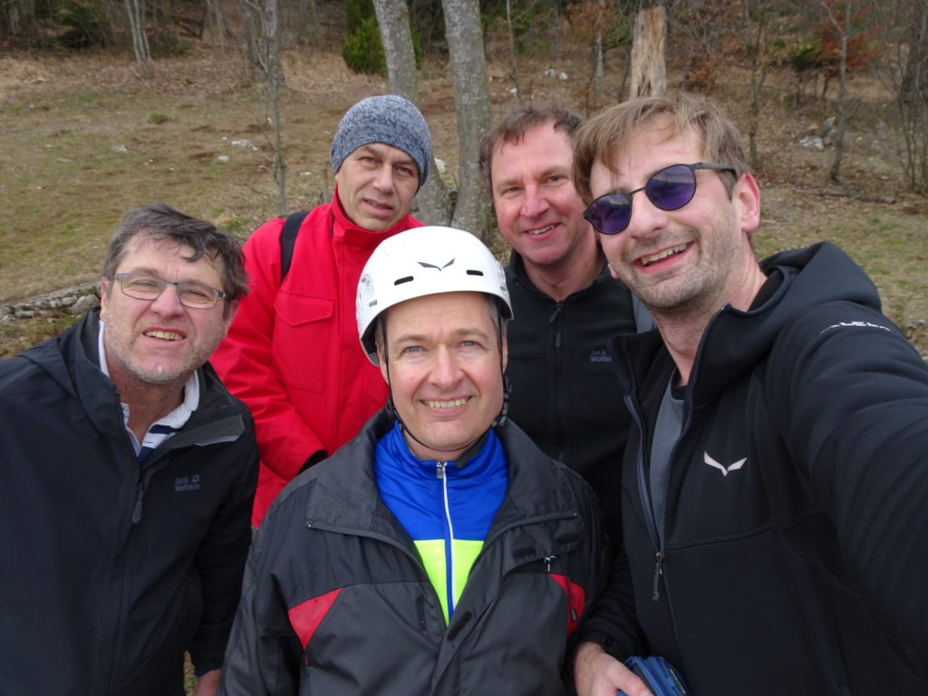 Robert, Nader, Herbert, Hannes and Stefan for a selfie