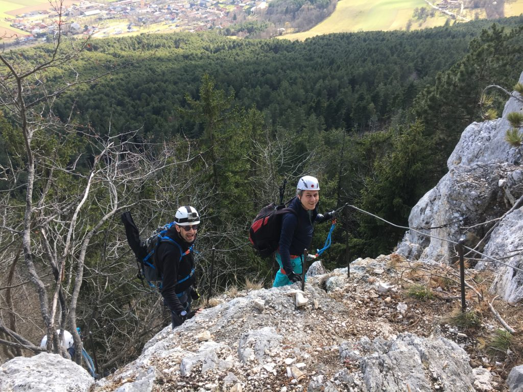 Stefan and Nader on the upper part of Hanslsteig