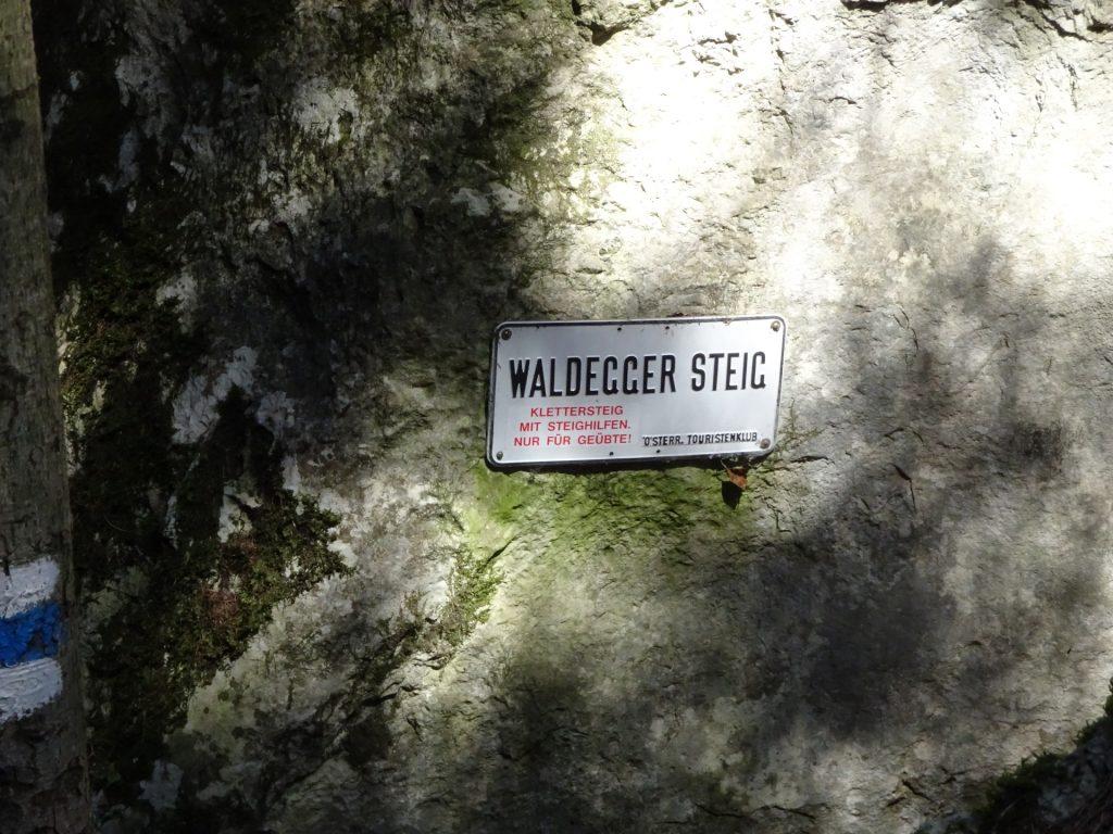 Entrance (Exit) of Waldeggersteig