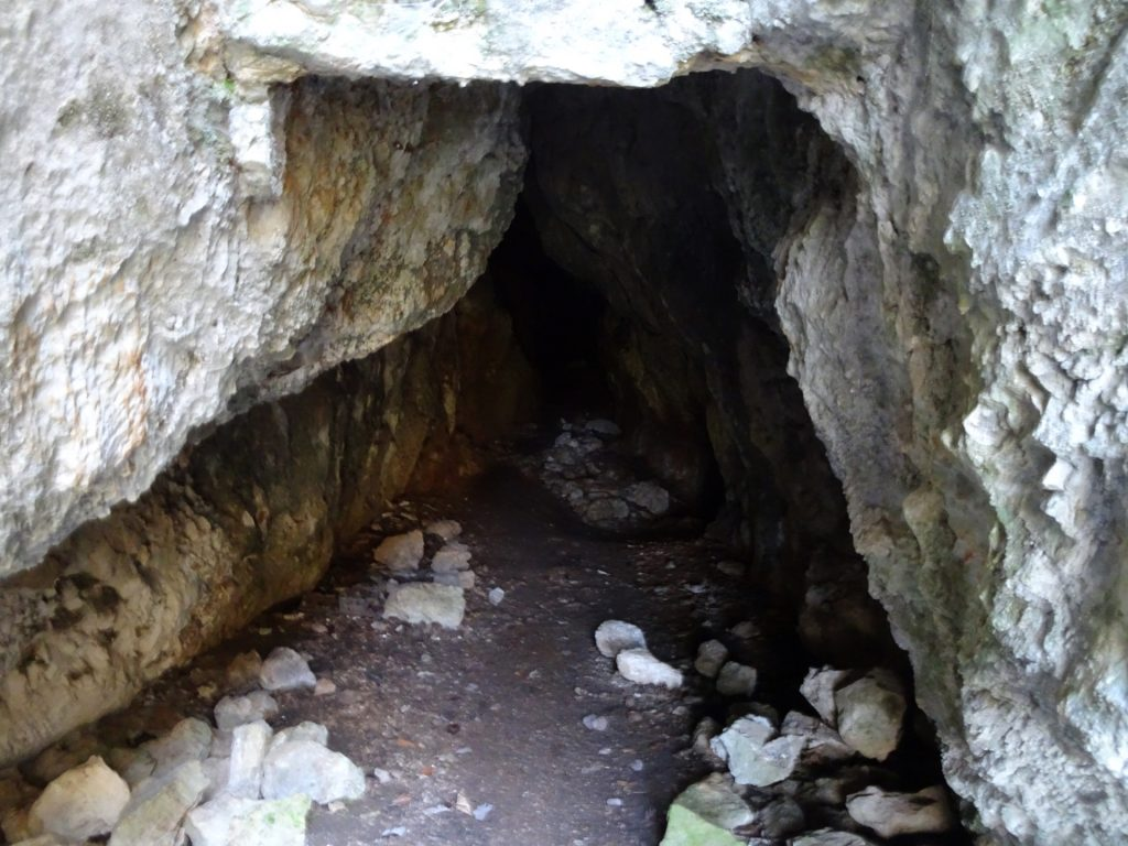 Public accessible cave at Waldeggersteig