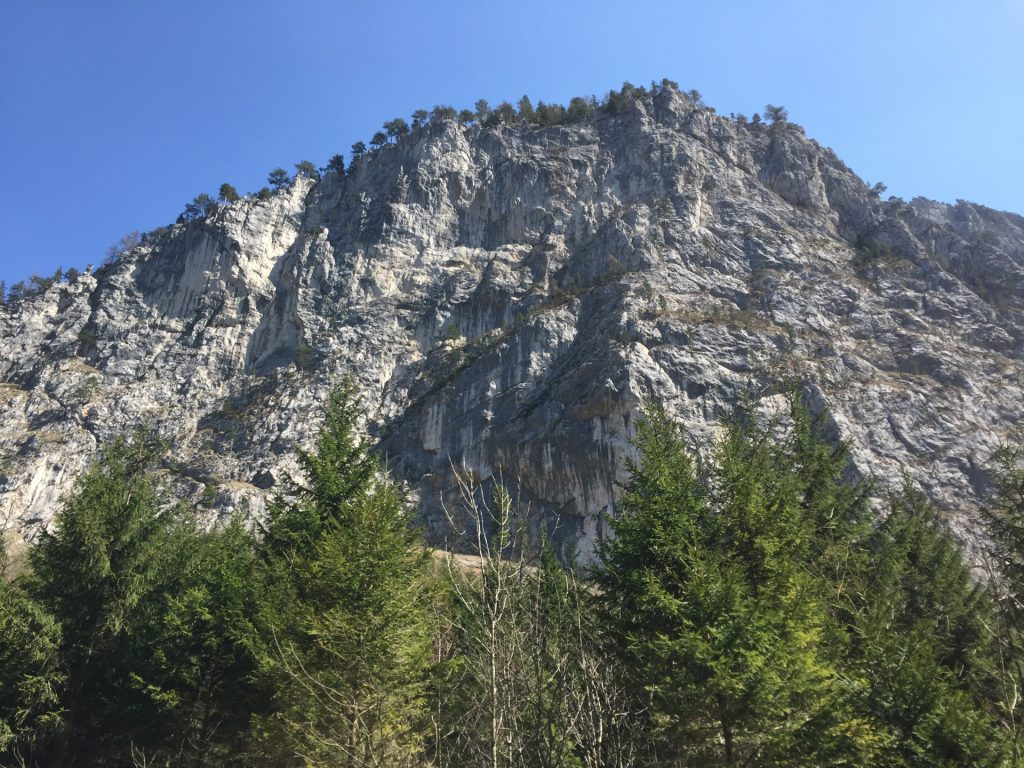 Climbing routes in the Höllental