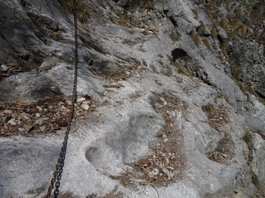 Second traverse is protected by an iron chain