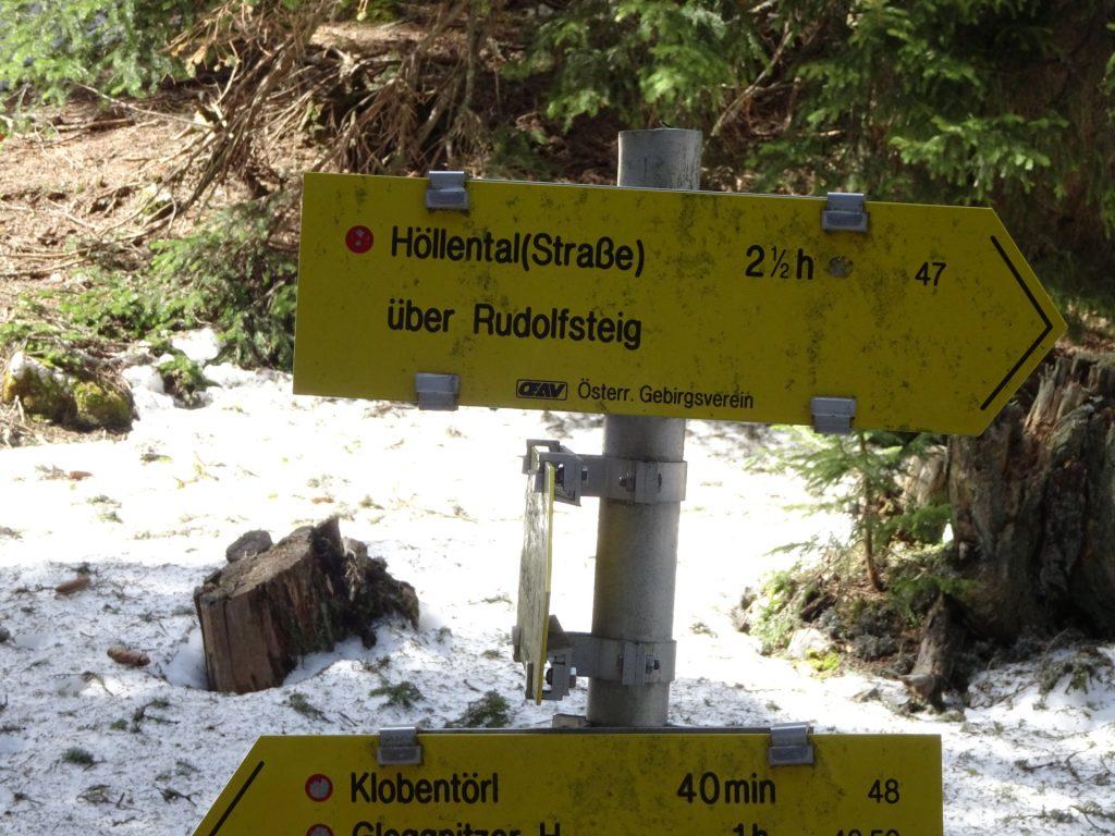 Crossing towards Rudolfsteig