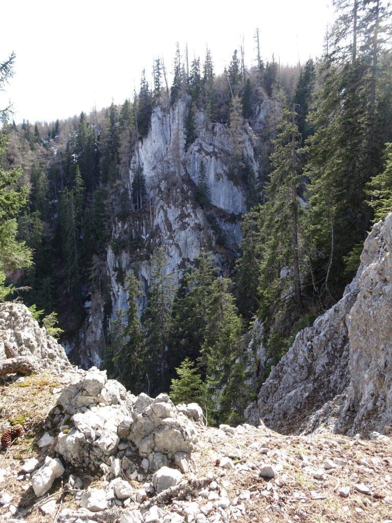 View from Rudolfsteig, now it gets steep