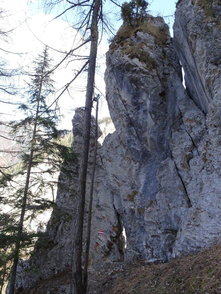 The rock window on Rudolfsteig