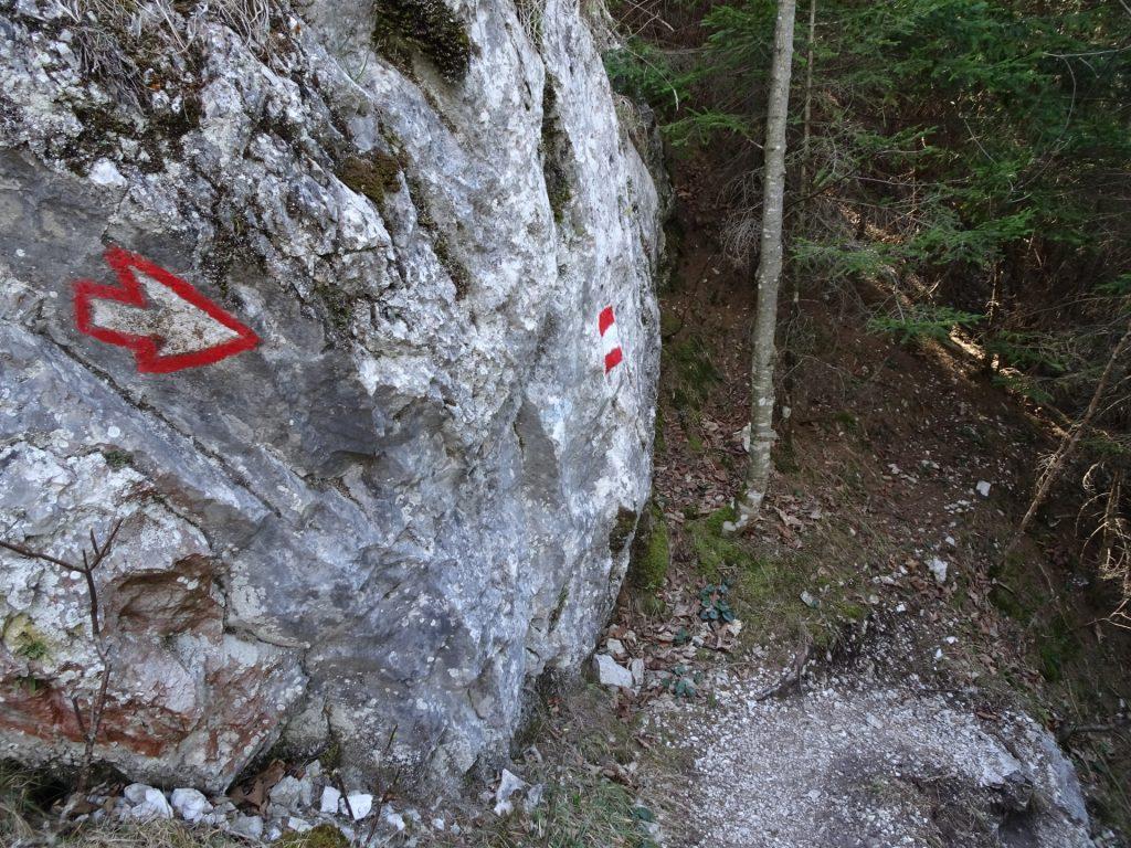 Descending via Rudolfsteig