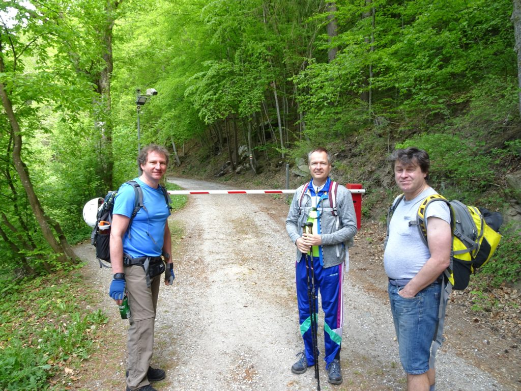 Hannes, Herbert and Robert are ready to hike