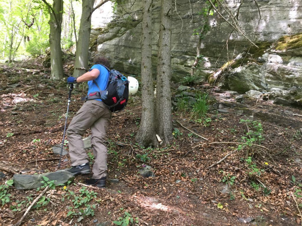 Hannes on the trail towards Vettersteig