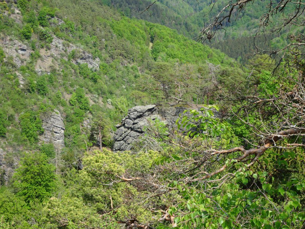 Climbing rock seen from Teufelsrast