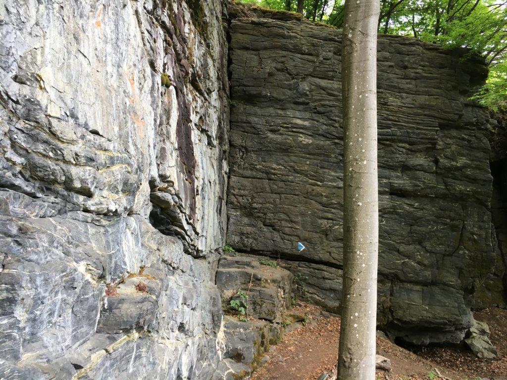 "Trail down to ""Steinerner Saal"""