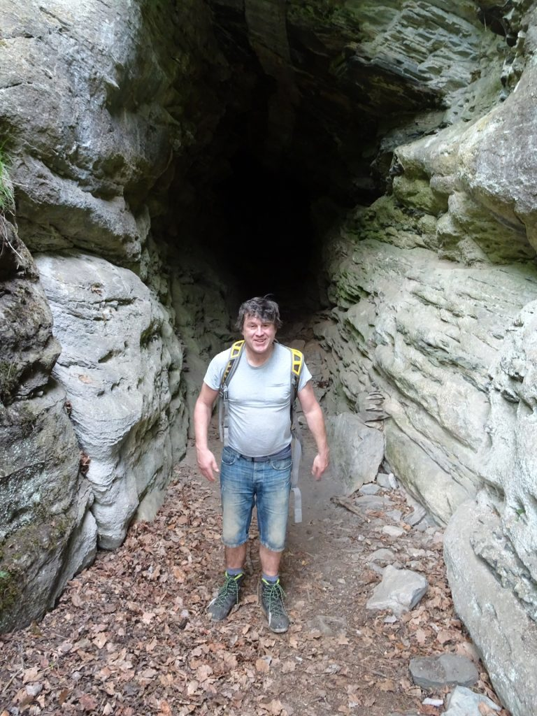 Robert got gray hair inside the cave