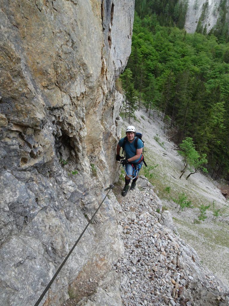 Robert at the first traverse