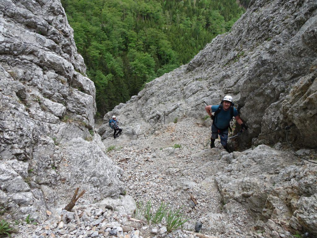 Robert (right) and Herbert climbing (A/B)