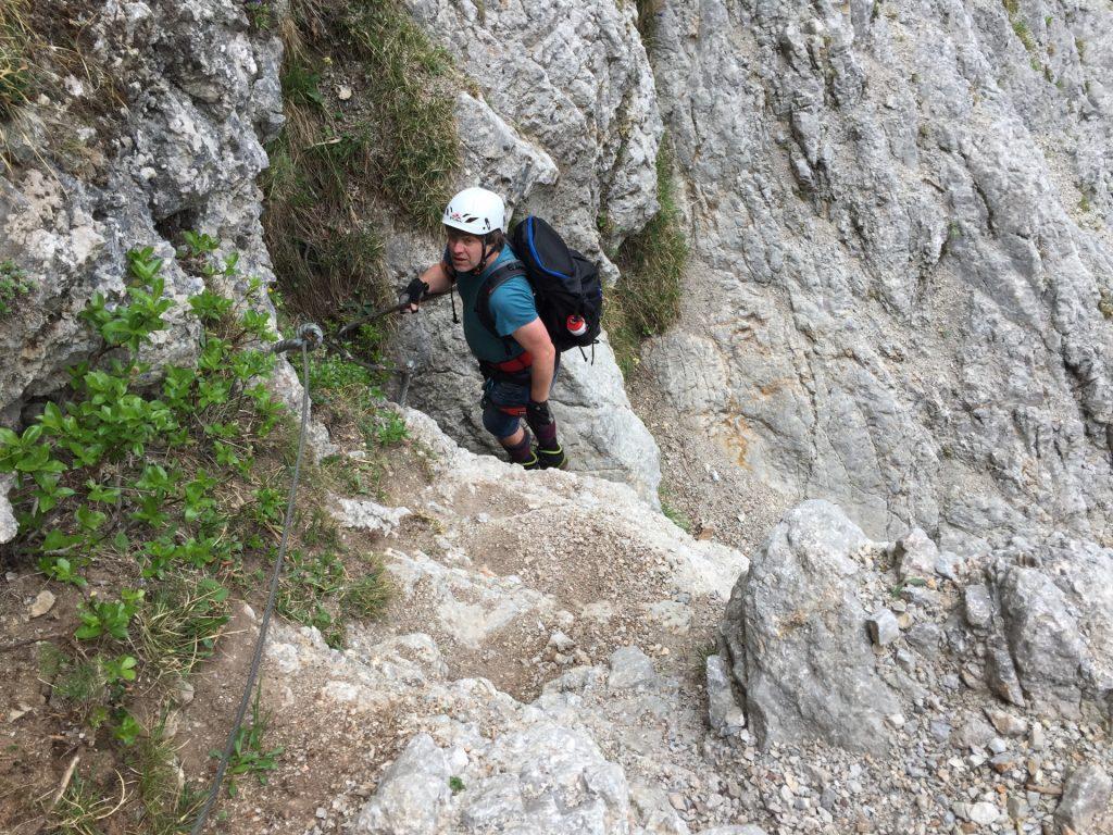 Robert climbing