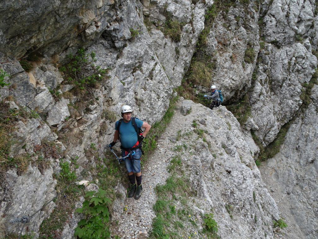 Robert and Herbert on the traverse