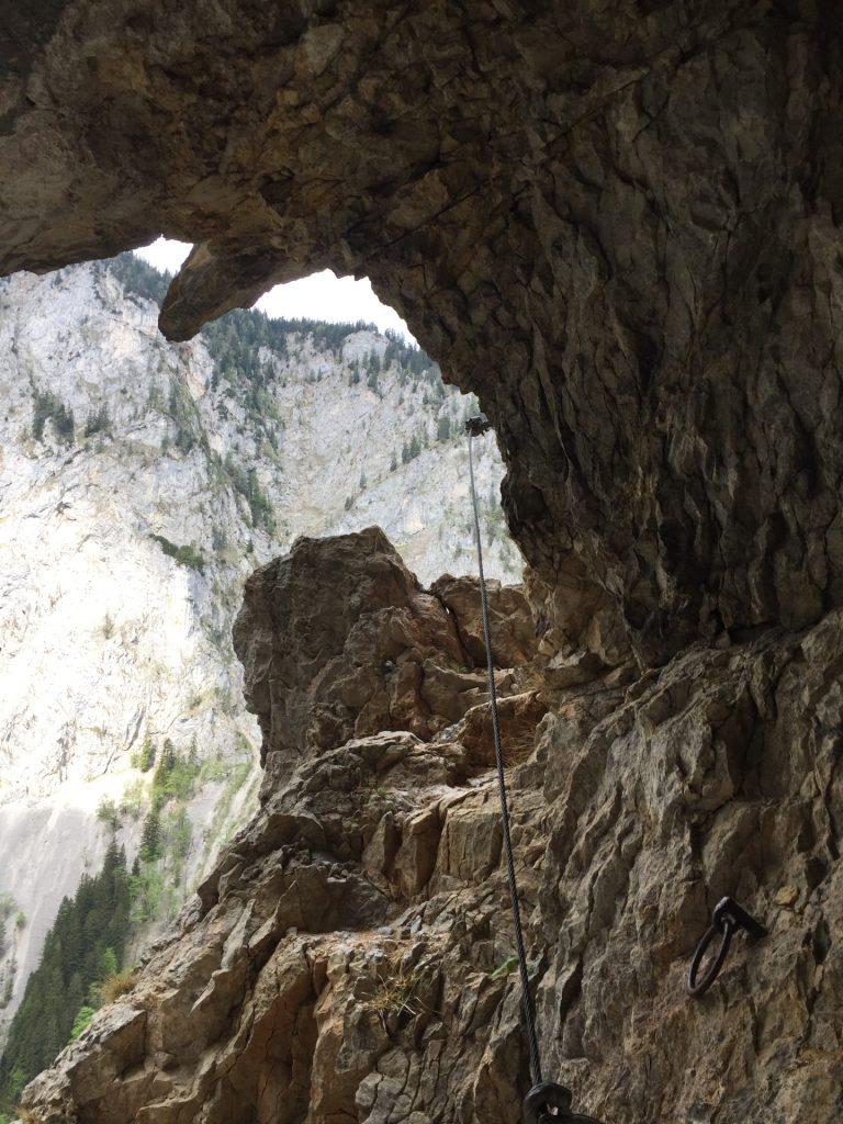 "Inside the ""Teufelsbadstube"""