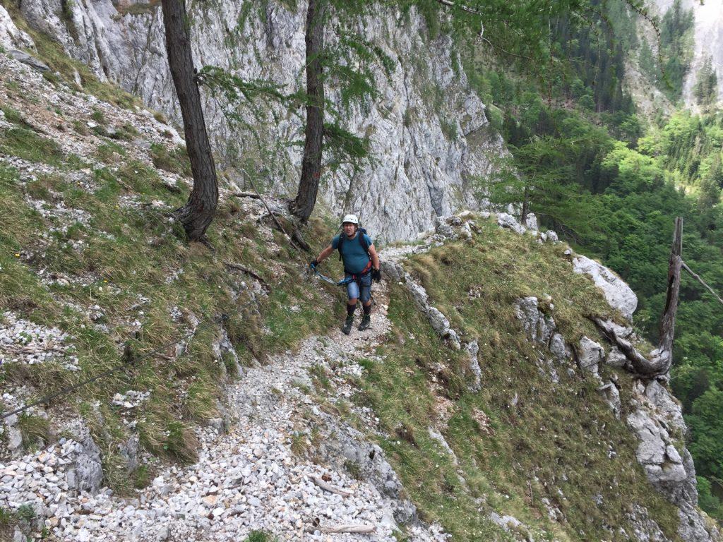 Robert sees the next climbing passage