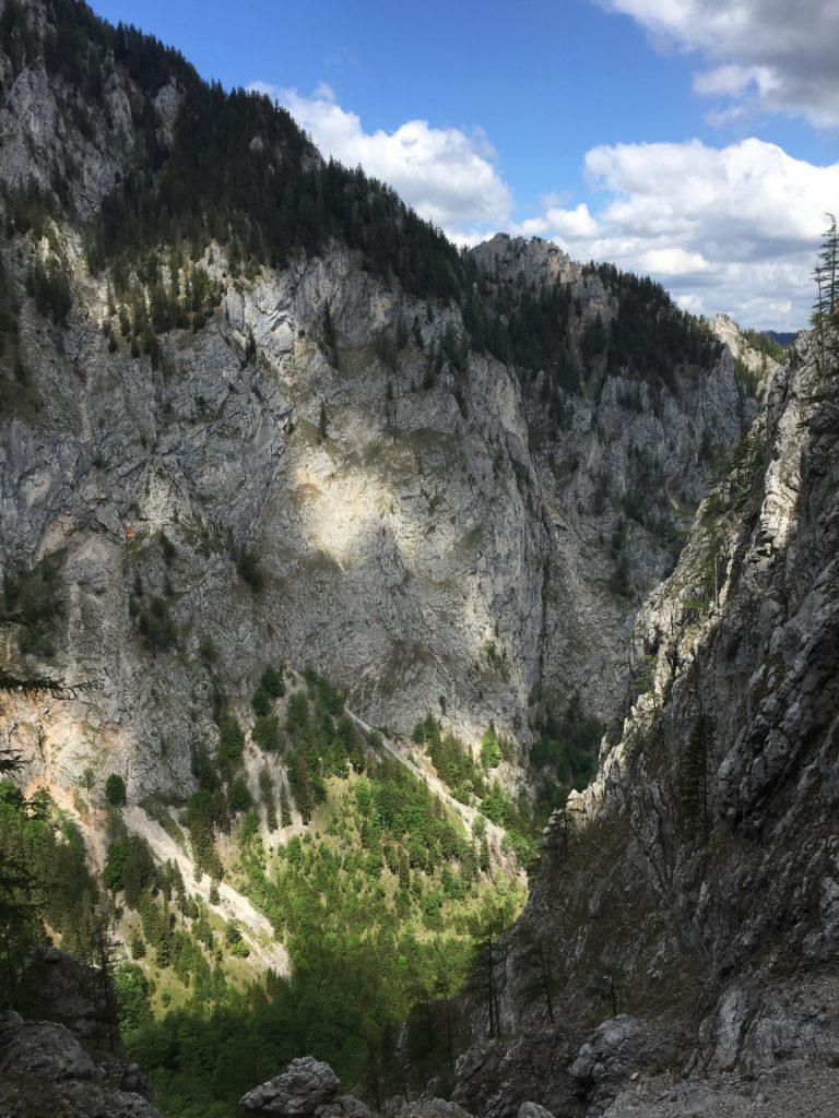 """View downwards """"Höllental"""""""