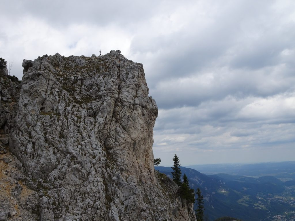 "The ""Törlkopf"" climbed via the Kronich Eisenweg ferrata"