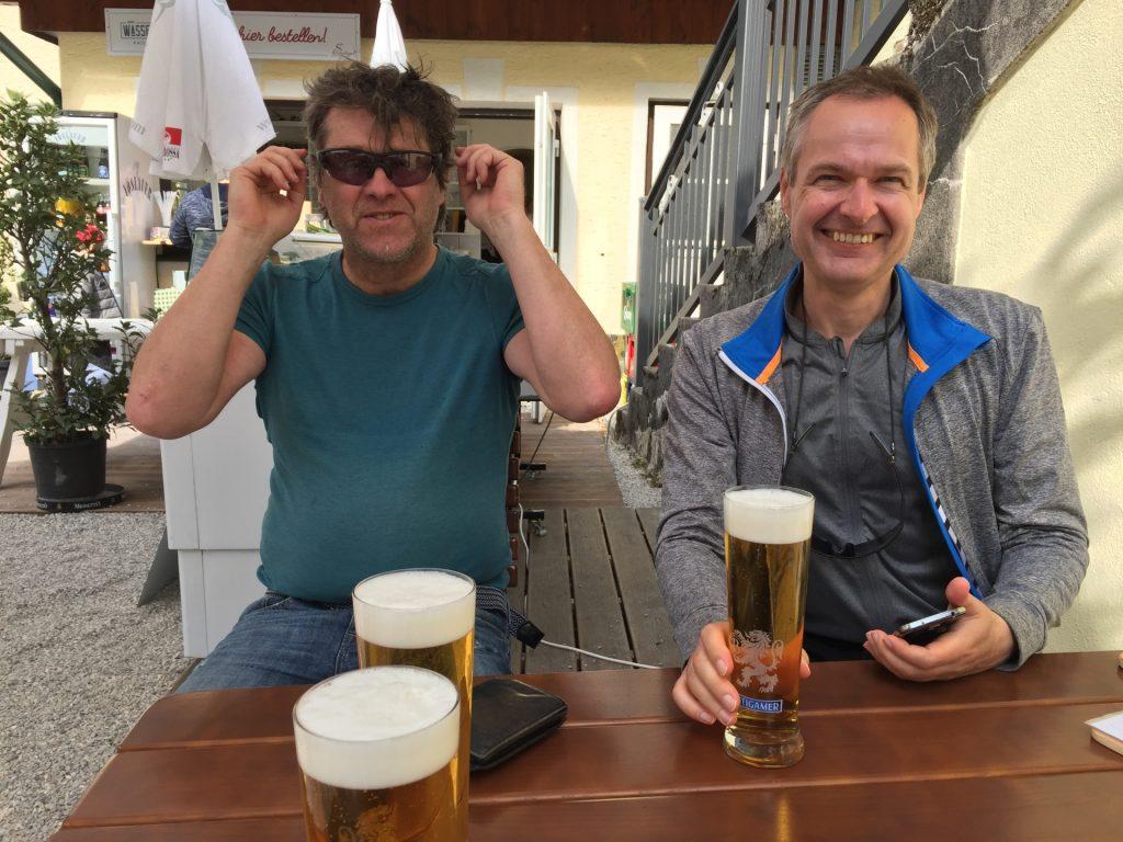 Well deserved break at Landgasthof in Kaiserbrunn