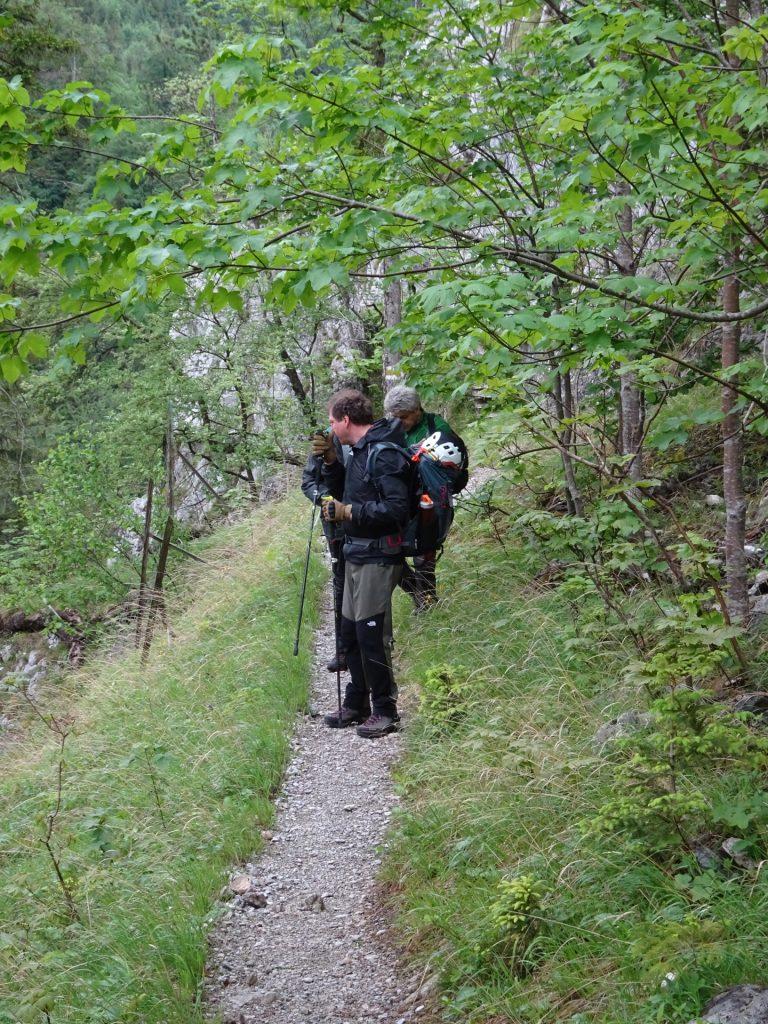 The guys on the trail towards Höllental