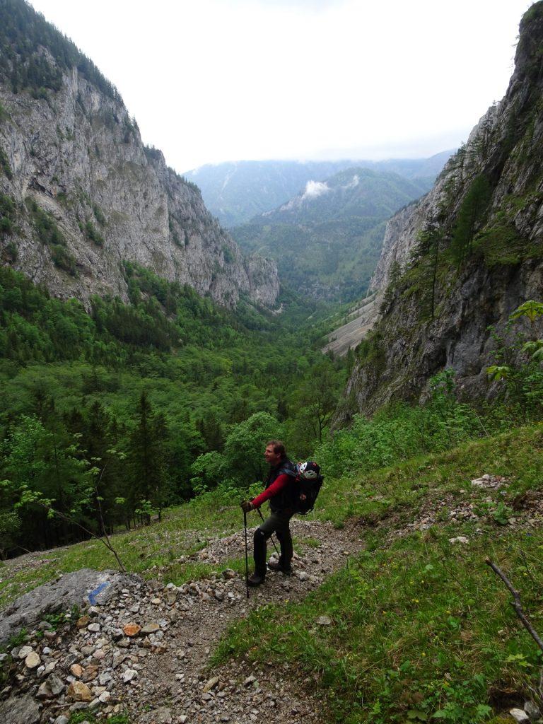 Hannes on the trail towards Alpenvereinssteig