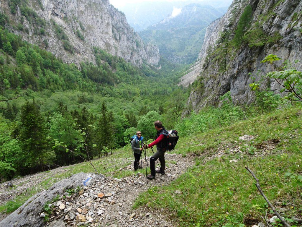 Herbert and Hannes towards begin of Alpenvereinssteig