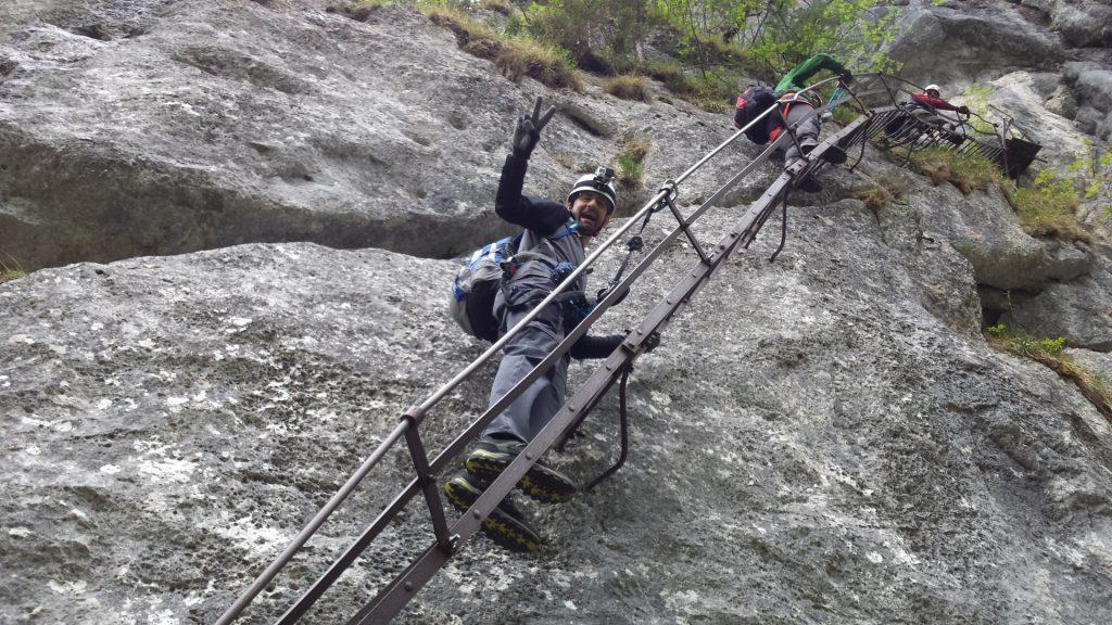 Stefan enjoying the climb