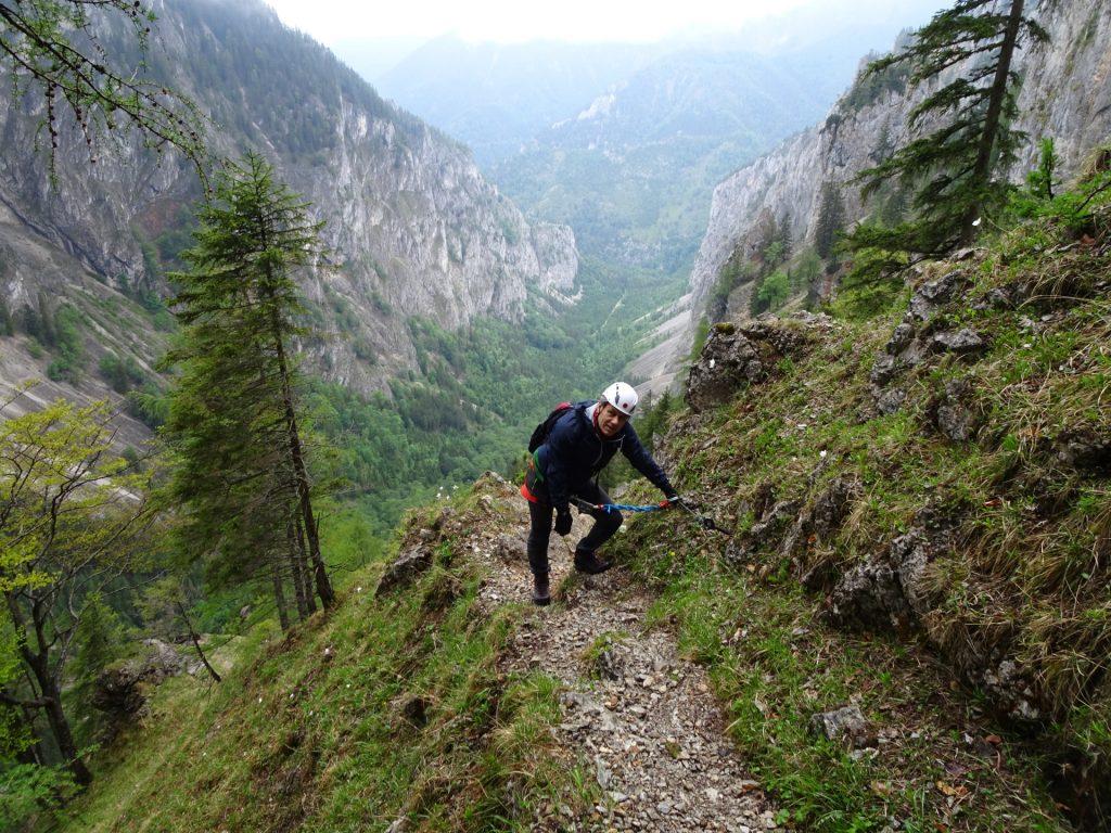 Nader enjoys the demanding climb