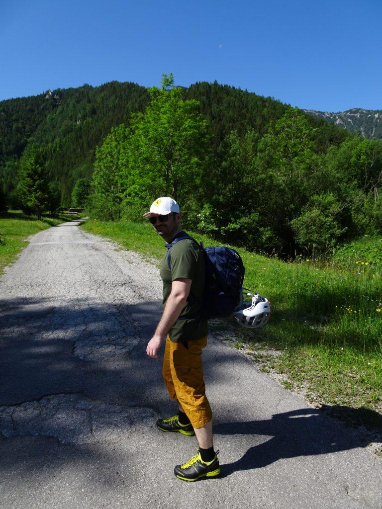 Predrag doing his first meters towards outdoor climbing