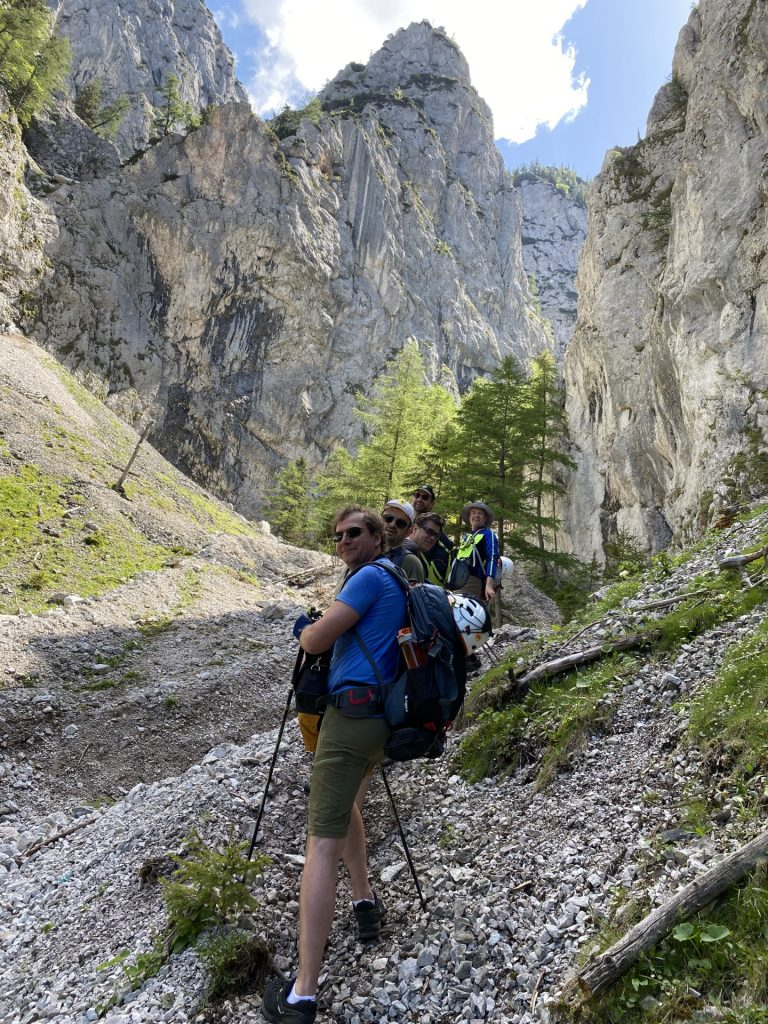 Nader takes a picture of the team on the trail towards Wildfährte