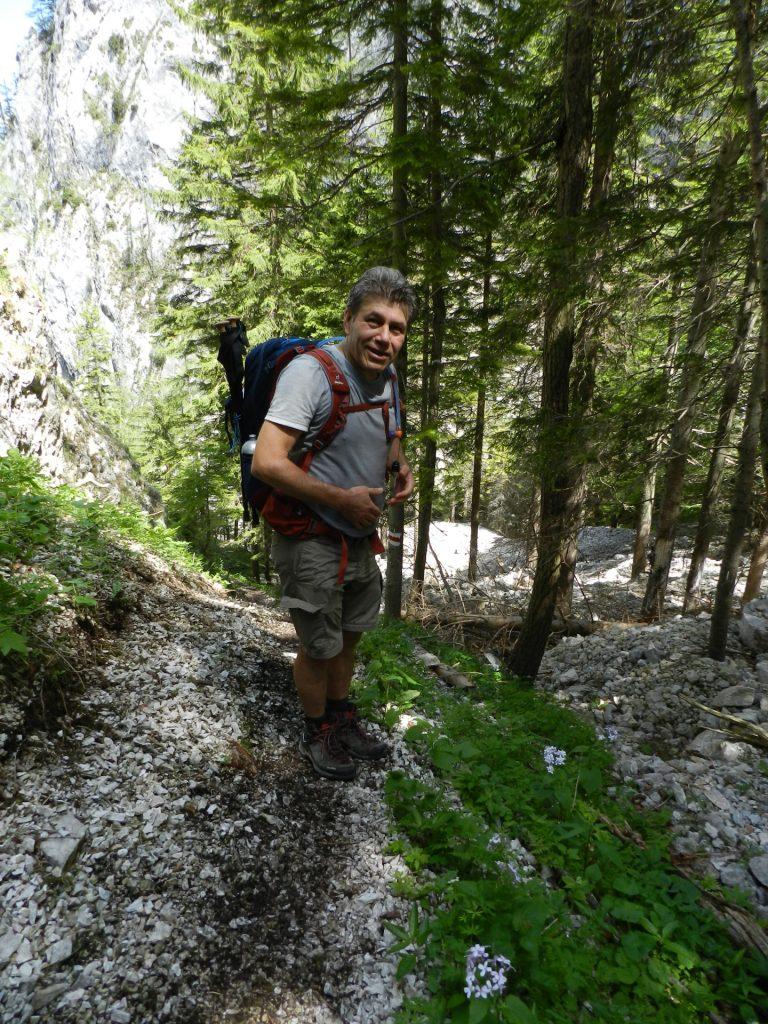 Nader enjoying the hike