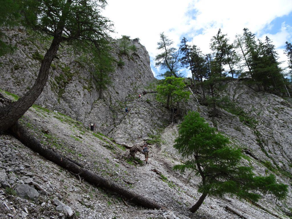 The start of Wildfährte via ferrata