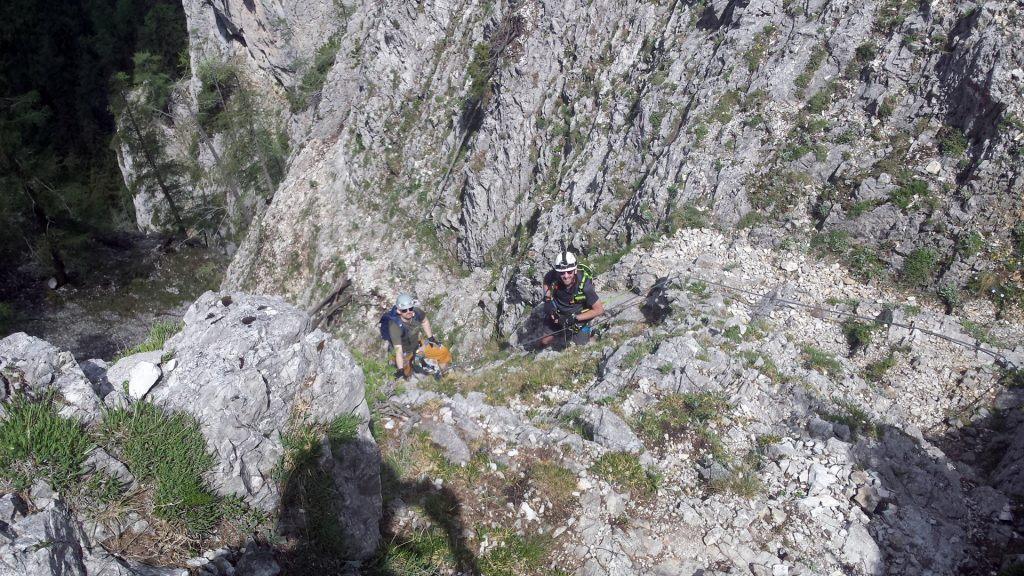 Stefan and Predrag after the traverse
